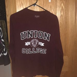 Champion Union College Long Sleeve Tee Shirt